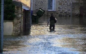 Inondation à Jugon-les-Lacs