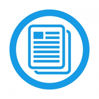 Icono plano copiar documento en circulo color azul - ©teracreonte - stock.adobe.com