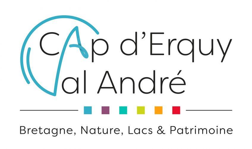 CAP ERQUY-VAL ANDRE_logo - compléter si n&b, flou, détail..., logo office du tourisme communautaire cap d'erquy val andré bretagne nature lacs et patrimoine - tous supports